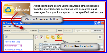 restore from advanced panel