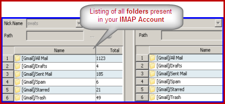 copy move email from folders in imap account